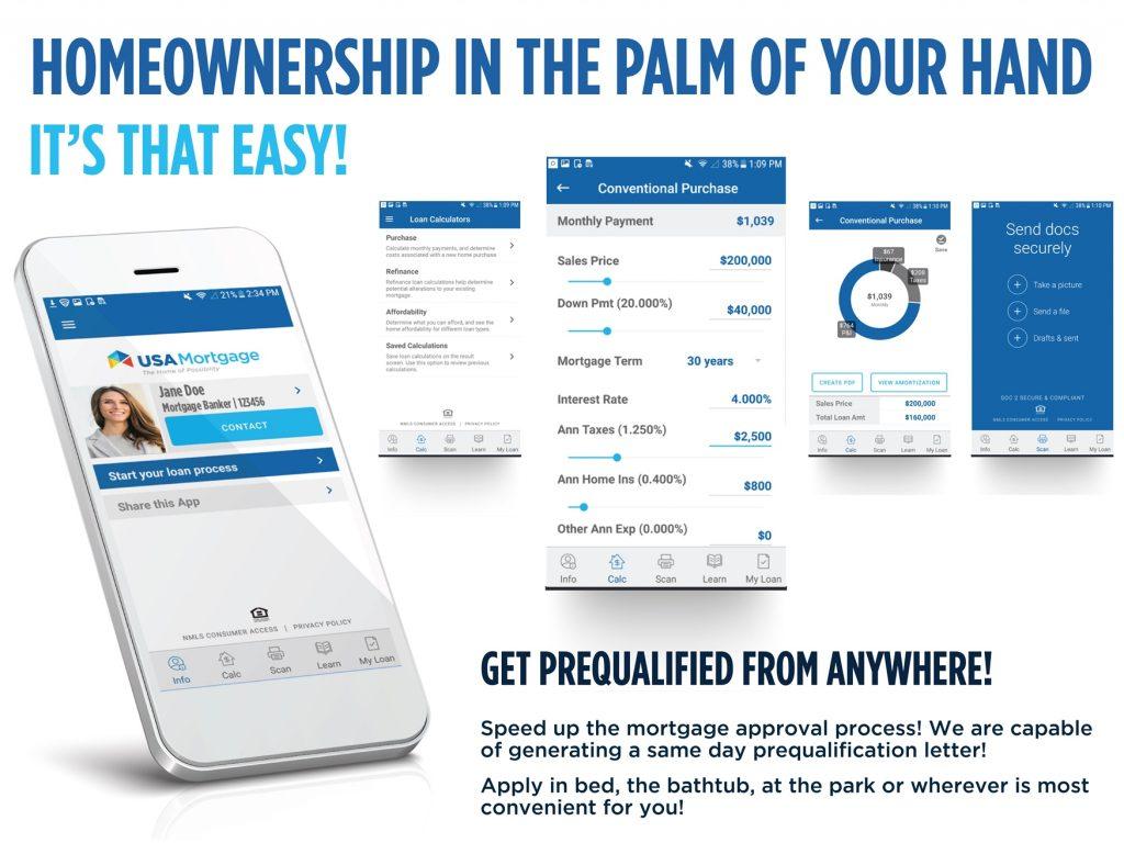 USA Mortgage Mobile App