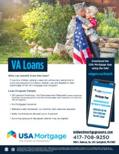 VA Home Loan Flyer