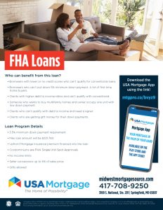 FHA Home Loan Flyer