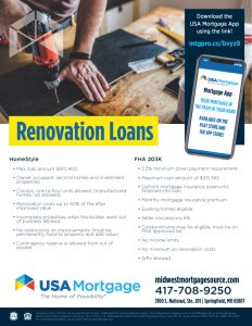Renovation Home Loan Flyer